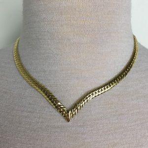 Vintage Joan Rivers Gold Tone Herringbone Chain